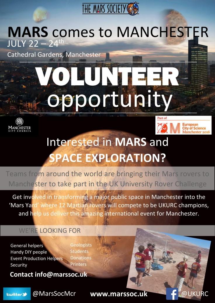 Call for UKURC Volunteers