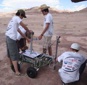 A team with the rover takes part in the Rover Challenge, something we plan to establish in the UK